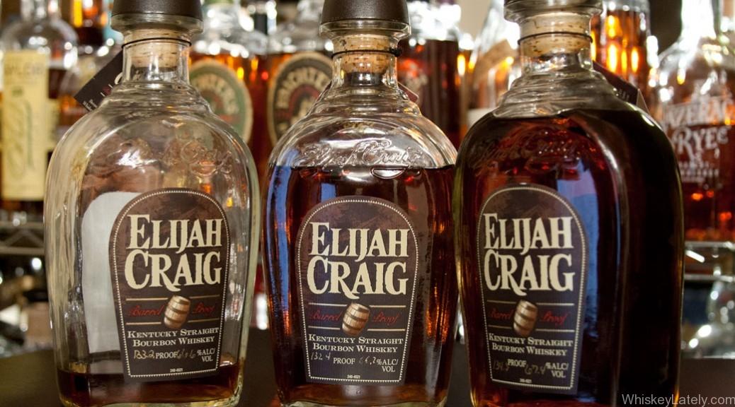 Elijah Craig 12 Barrel Proof Batches 3. 4. 5